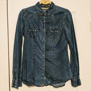 🎉BOGO🎉 Forever 21 Western Denim Chambray Shirt